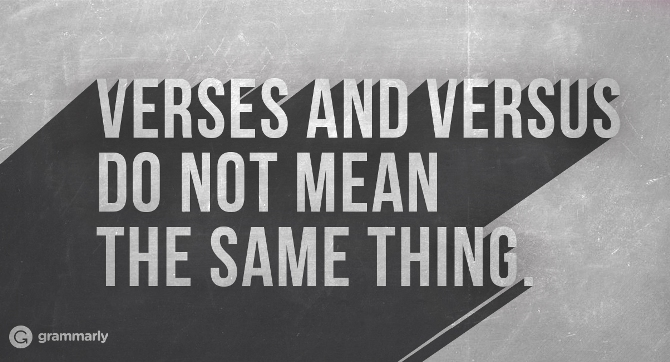 Confusing Words: Versus vs. Verses