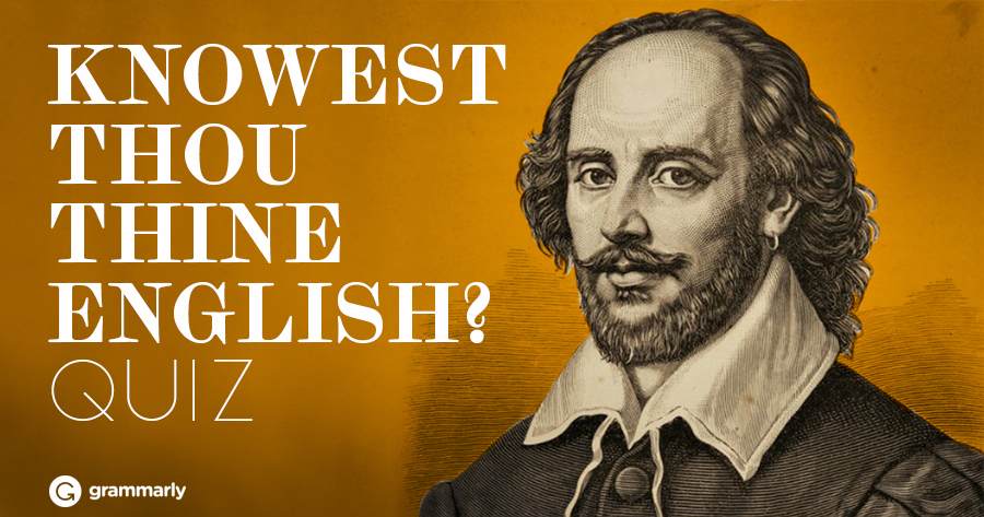 Knowest thou thy Shakespearean English? Quiz cover