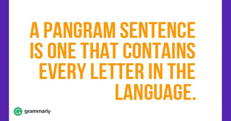 A-pangram-sentence-