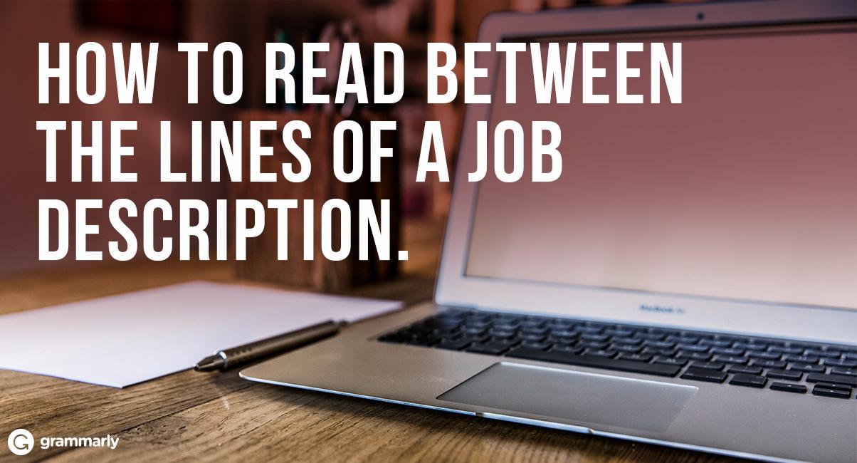 How to Read Between the Lines of a Job Description