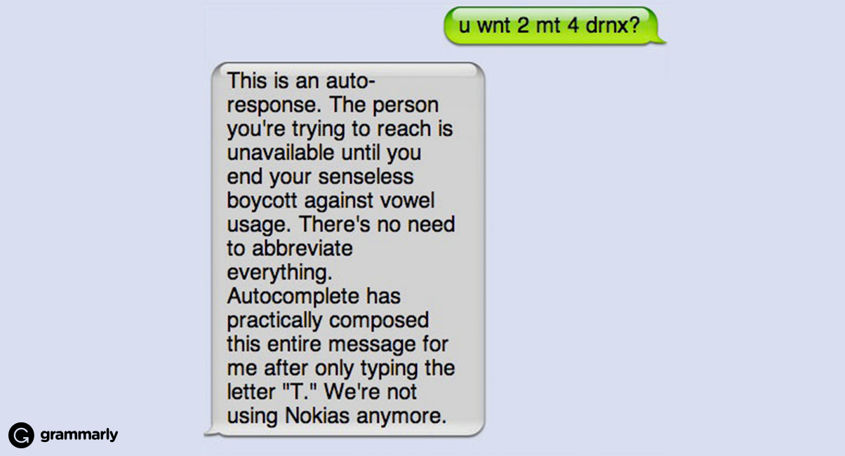 Texting: Ppl, Srsly, It's OK 2 Uz TxtSpk Sumtimz