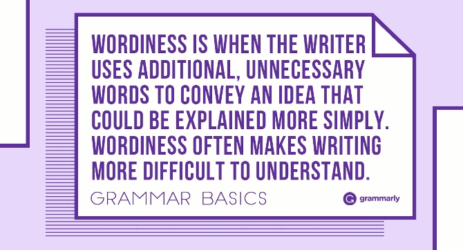 Avoiding Wordiness In Your Writing