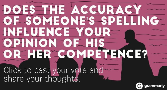 Does spelling accuracy influence your opinion image