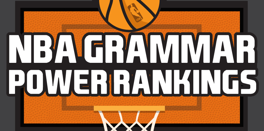 NBA Grammar Power Rankings