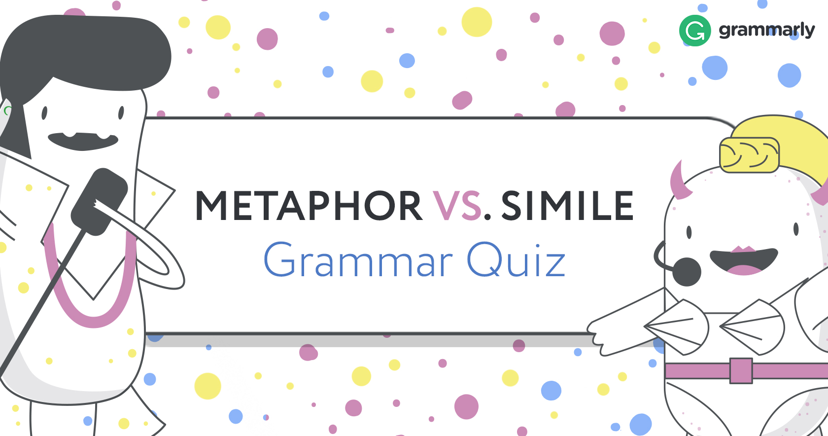 what is a metaphor definition and examples  metaphor vs simile quiz header