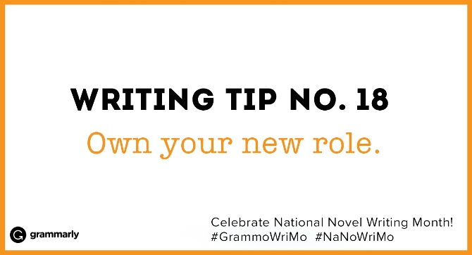Writing Tip no. 18