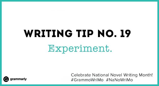 Writing Tip no. 19