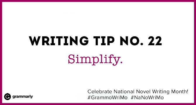 Writing Tip no. 22