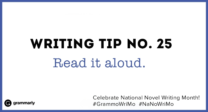 Writing Tip no. 25
