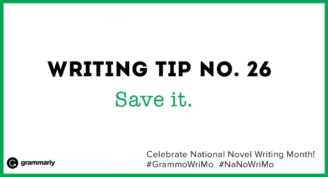 Writing Tip no. 26