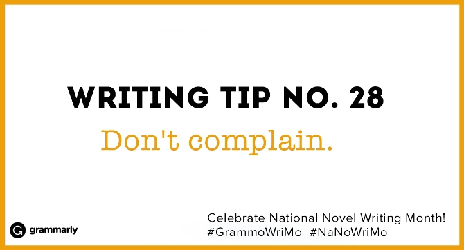 Writing Tip no. 28