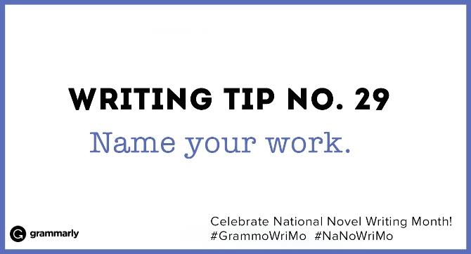 Writing Tip no. 29