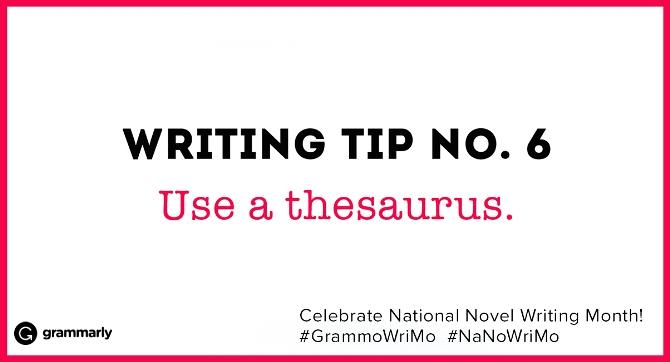 Writing Tip no. 6