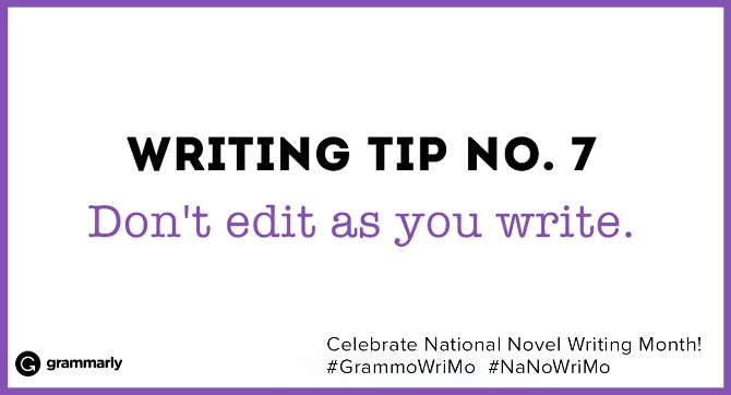 Writing Tip no. 7
