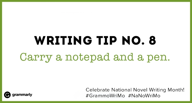 Writing Tip no. 8