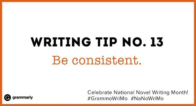 Writing Tip no. 13