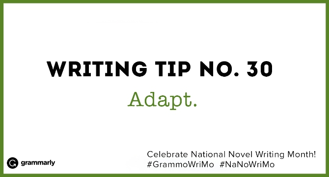 Writing Tip no. 30