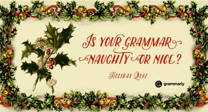 Naughty or Nice Grammar Quiz