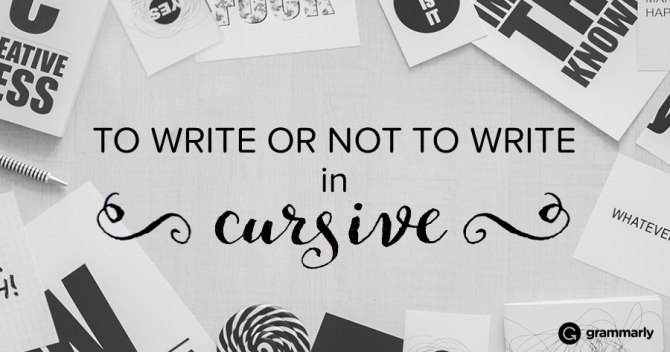 Does Cursive Still Matter?