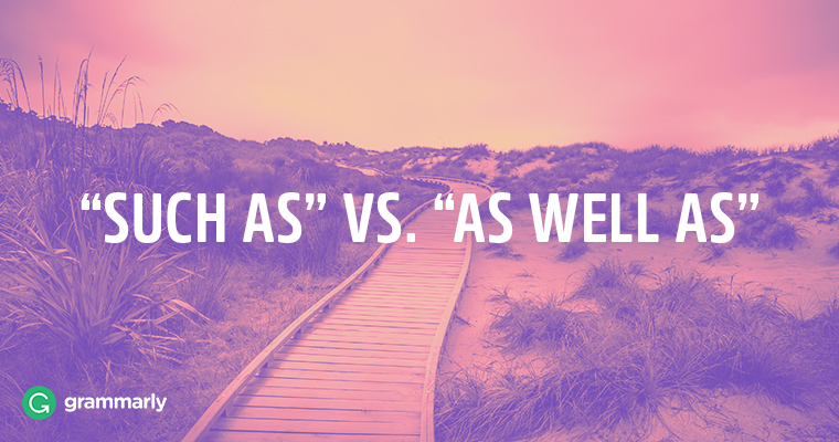 "How to Use ""Such As"" and ""As Well As"" in Professional Writing"