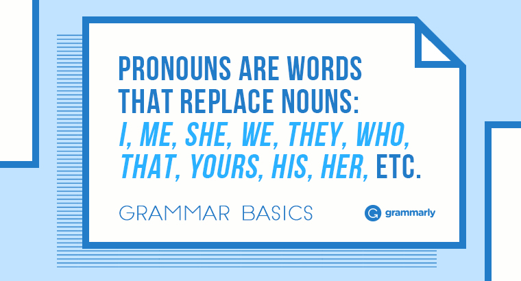 Pronouns–Grammar Rules