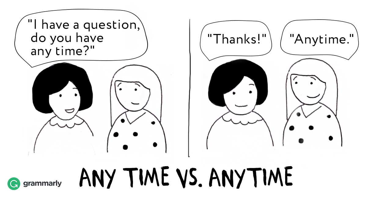 "How to Use ""Anytime"" and ""Any Time"""