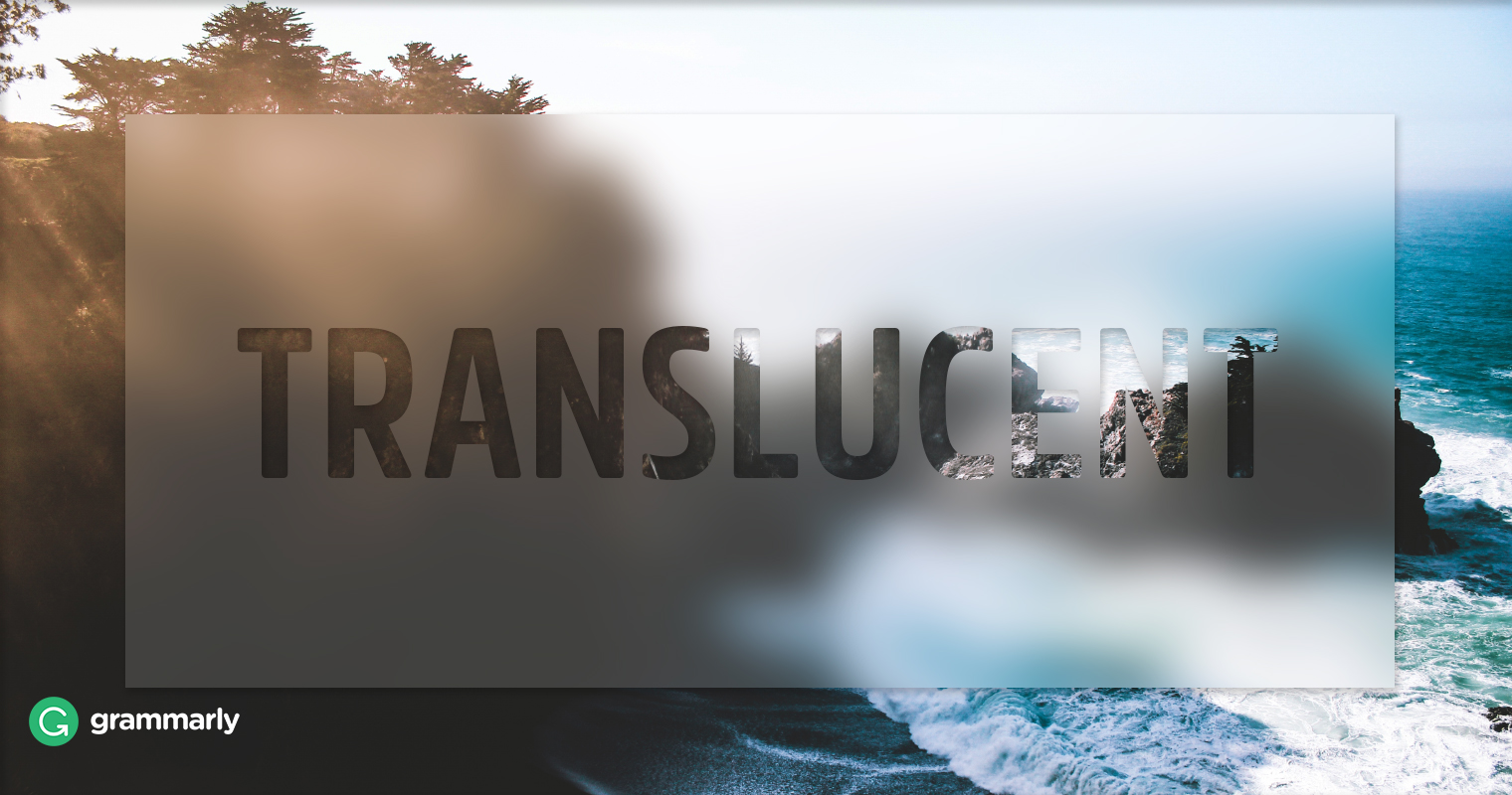translucent [trans-lu´sent] slightly penetrable by light rays. trans·lu·cent (trans-lū'sent), Partially transparent; permitting light to pass through diffusely. [L. translucens, fr. trans- + luceo, to shine through] translucent [-lo̅o̅′sənt] Etymology: L, trans, across, lucens, shining pertaining to a medium through which light can pass in a.