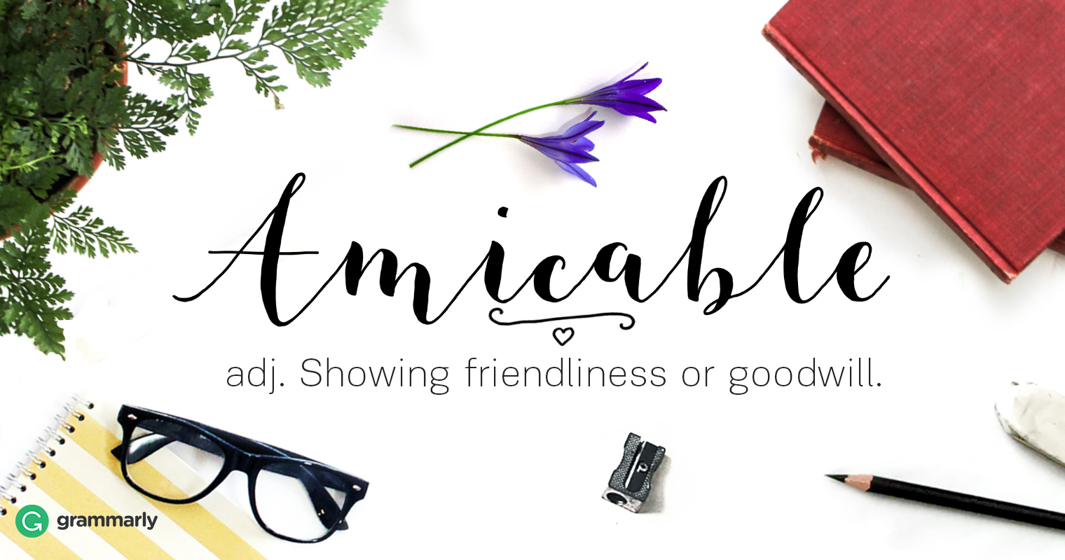Amicable Definition