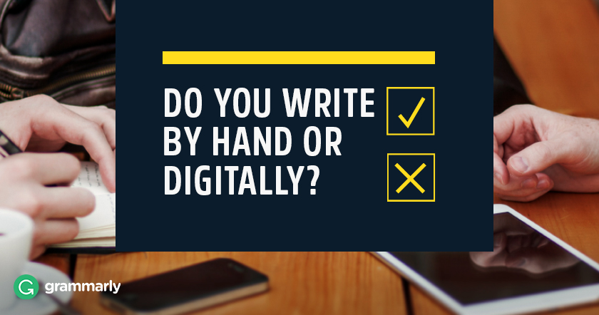 Do You Write By Hand or Digitally image