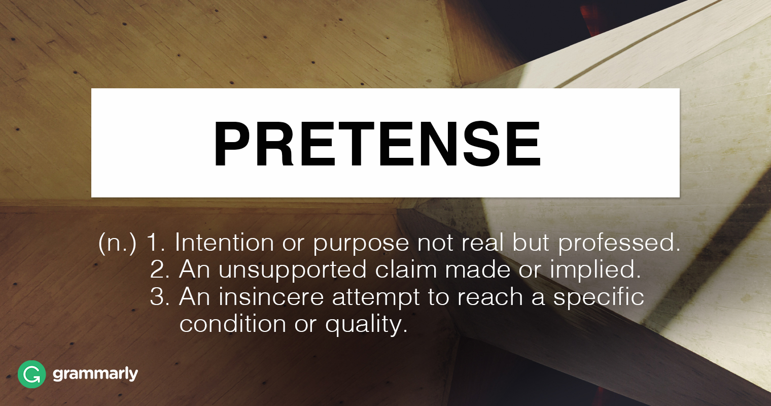 Pretense or Pretence—What's Right?