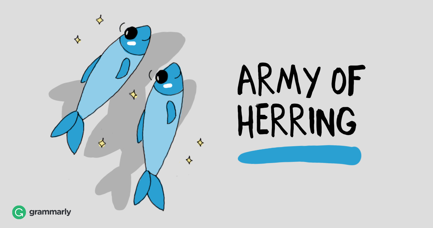 Collective of herring is an army.