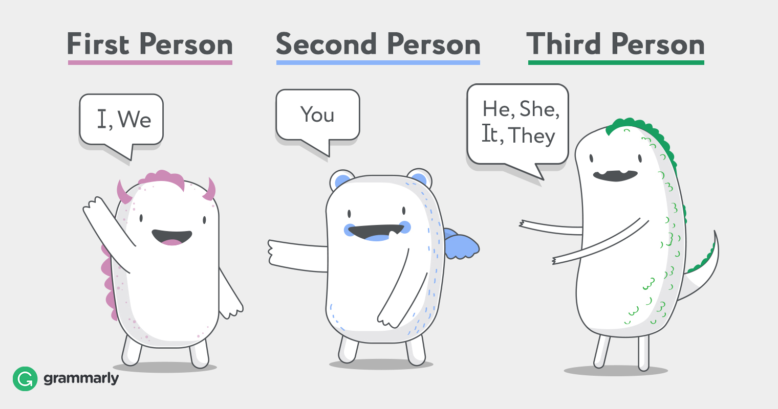 First, Second, and Third Person image
