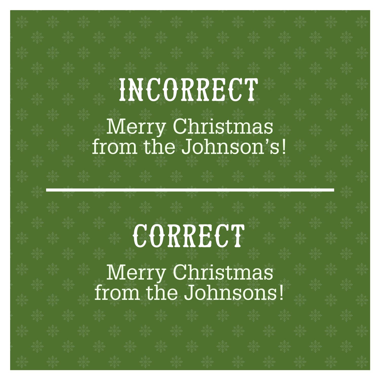 Merry Christmas grammar mistake