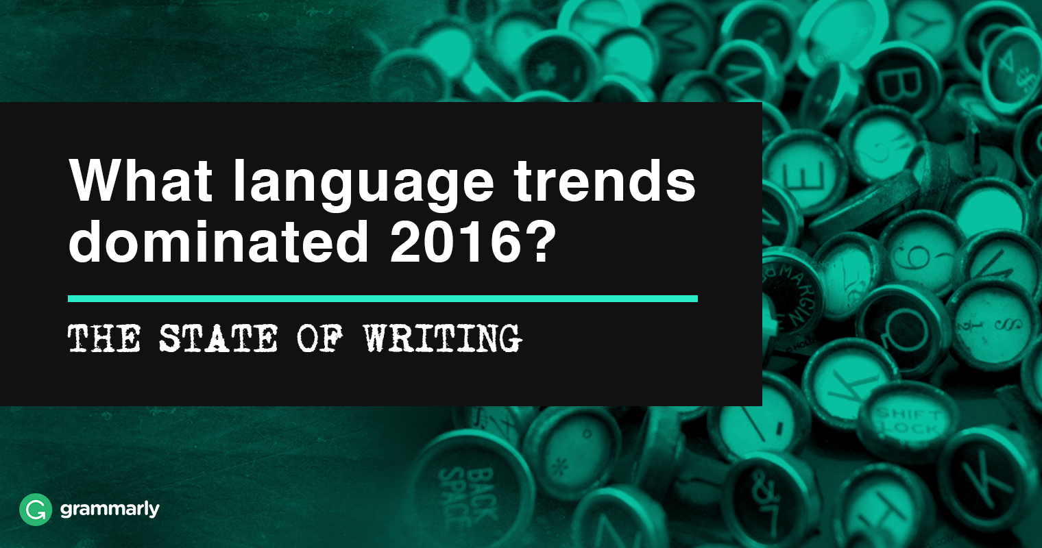 The State of Writing 2016