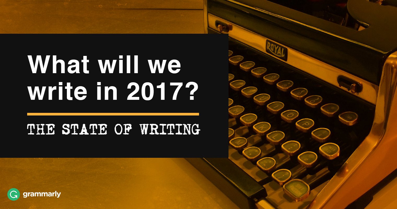 English writing trends in 2017