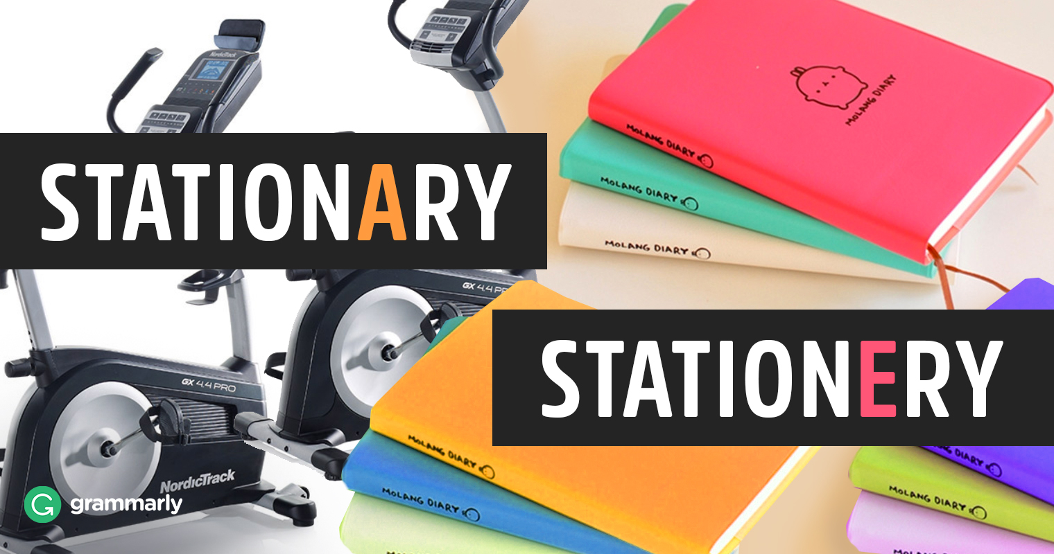 Stationary vs. Stationery—What's the Difference?