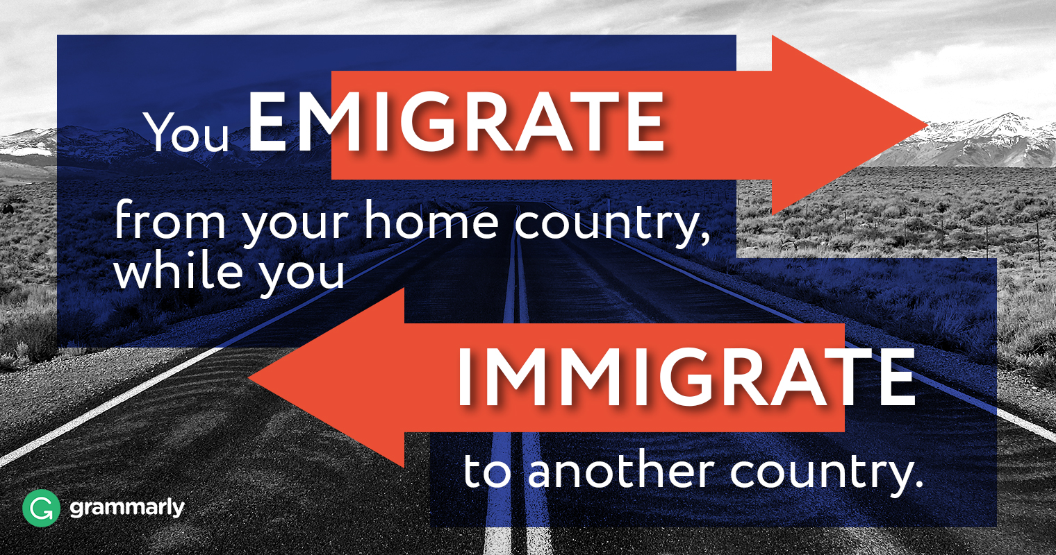 Emigrate vs. Immigrate–What's the Difference image