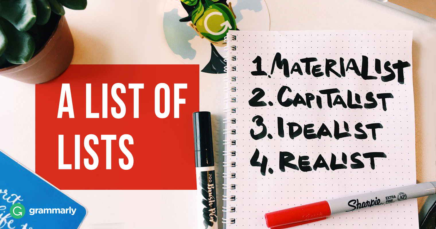 Fantastic Lists and How to Use Them