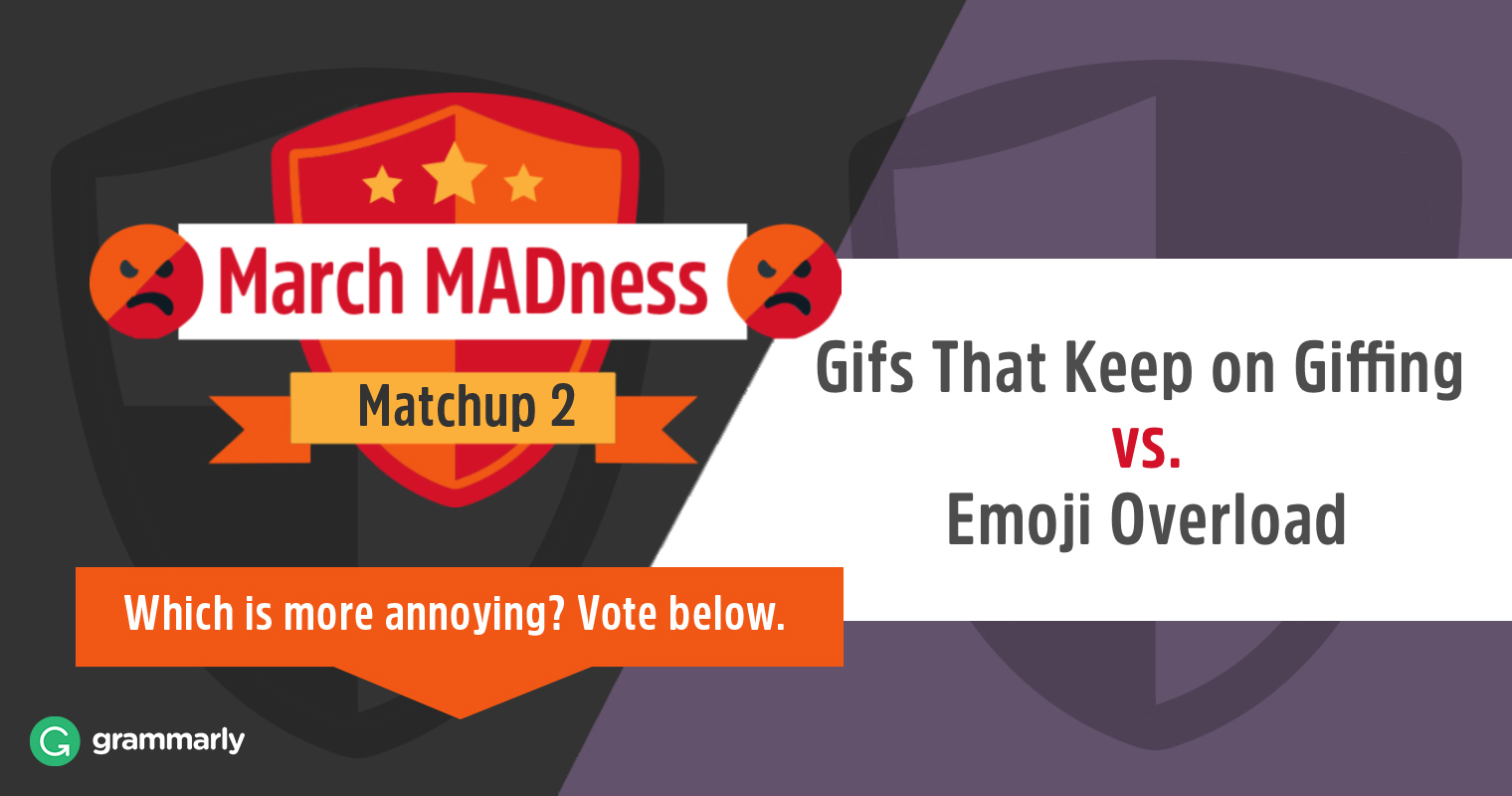 March MADness: Gifs that Keep on Giffing vs. Emoji Overload image
