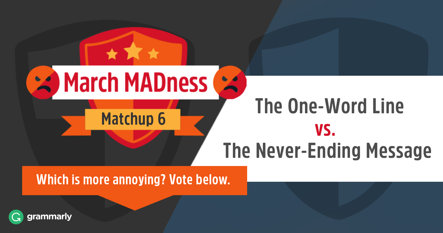 March MADness: The One-Word Line vs. The Never-Ending Message