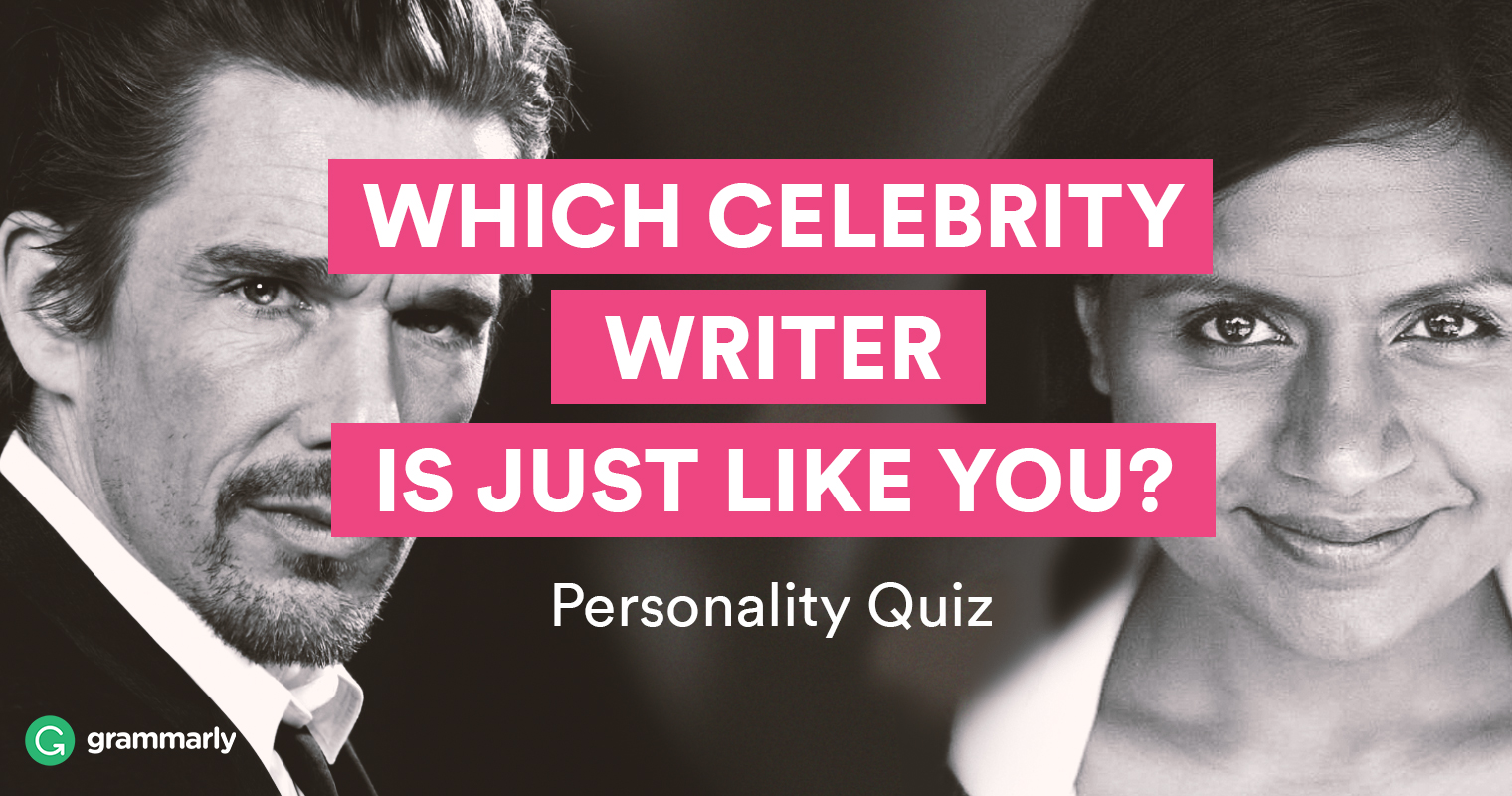 """Which Celebrity Writer Is Just Like You?"" Quiz"