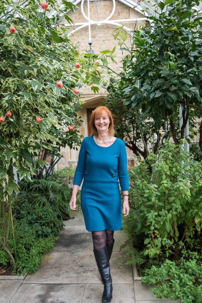 Gaining confidence in 2020 - Karen Burge - walking a garden path between hedgerows