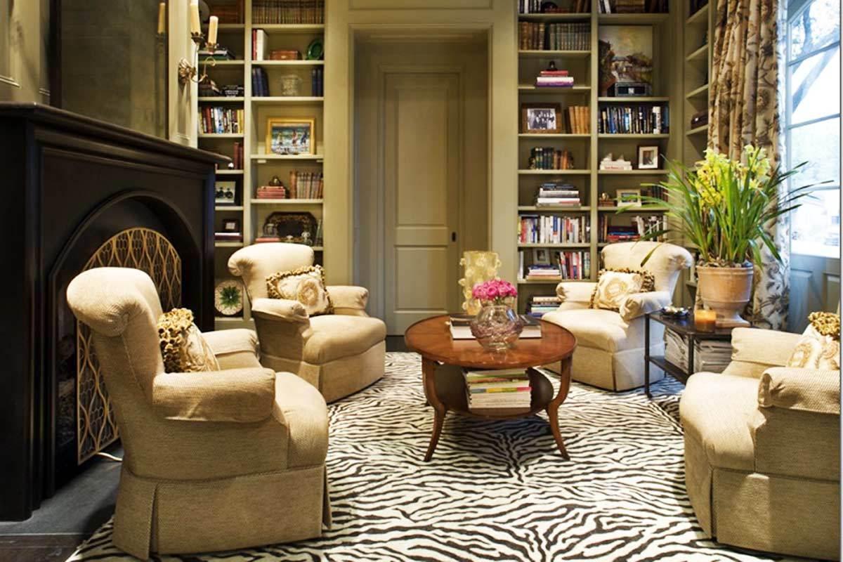faux zebra skin rug
