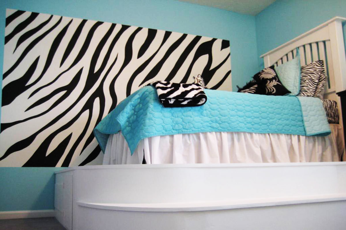 Zebra Print Wallpaper For Bedrooms Design