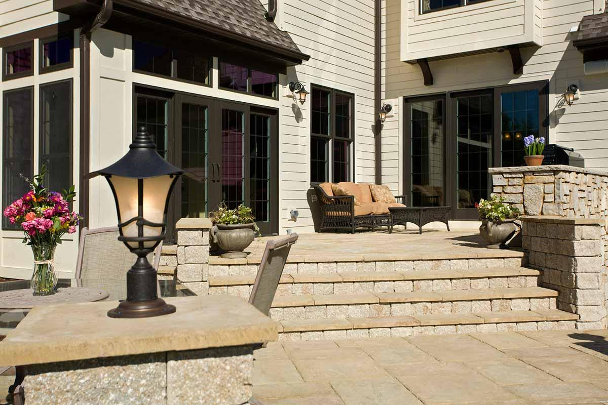 Improve your patio, walkway or steps with a paving contractor!