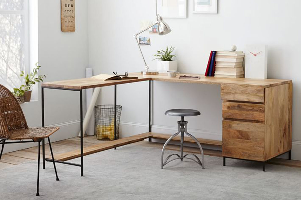 100+ ideas industrial home office desk on vouum