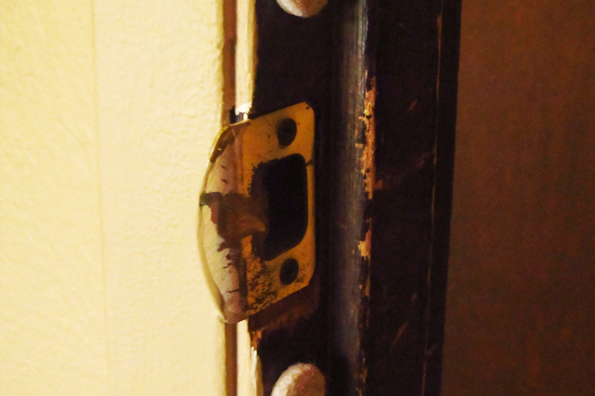 Awesome Stick Felt Pads To Inside Of Door Frame