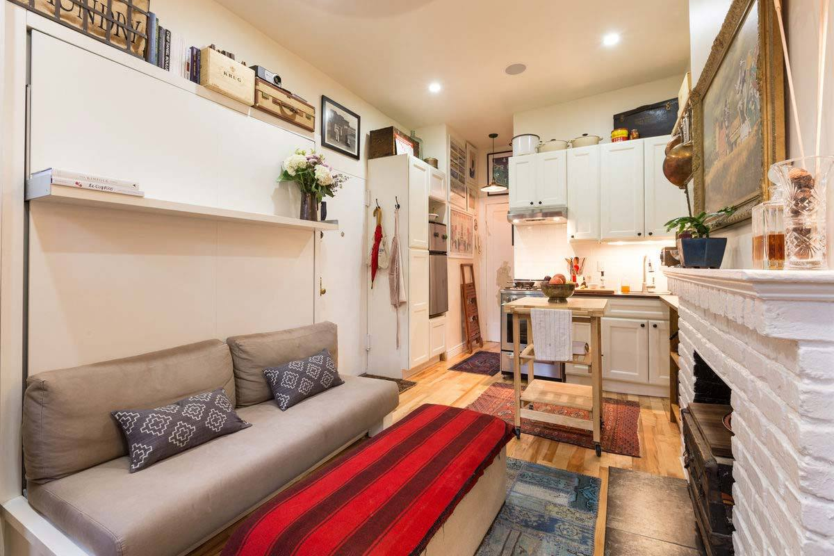 5 decorating ideas for small apartments for Narrow studio apartment