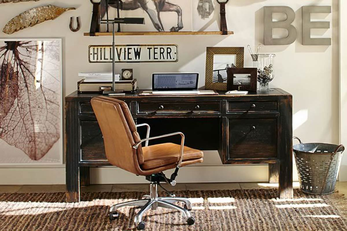 Dawson Desk from Pottery Barn. 12 Industrial Desks You ll Want for Your Home Office