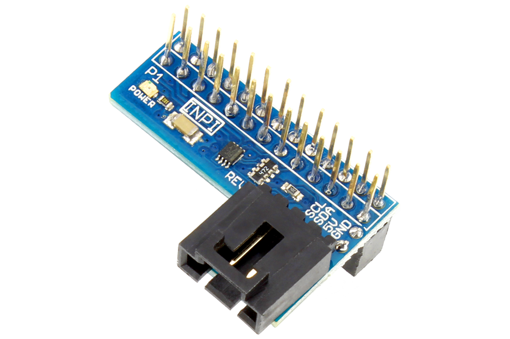 I2C Shield for Raspberry Pi with Inward Facing I2C Port